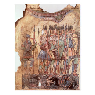 Foot Soldiers in the Crusades Postcard
