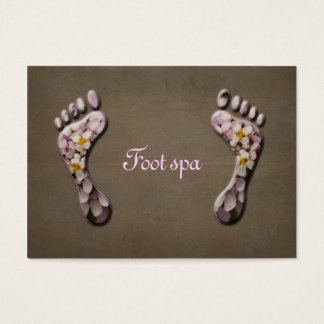 foot spa business card