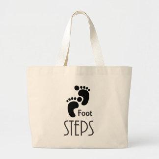 Foot Steps Jumbo Tote Bag