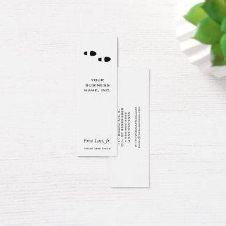 Foot Steps Mini Business Card