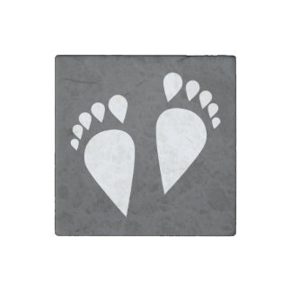 Foot Steps Minimal Stone Magnet