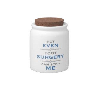 Foot Surgery Humor Candy Jar
