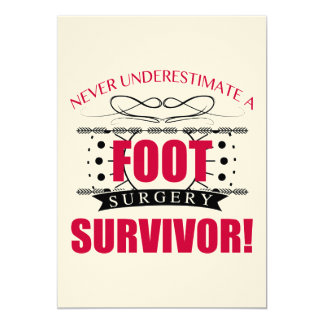 Foot Surgery Survivor Card