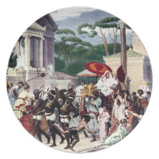 Foot Traffic on the Appian Way Party Plate