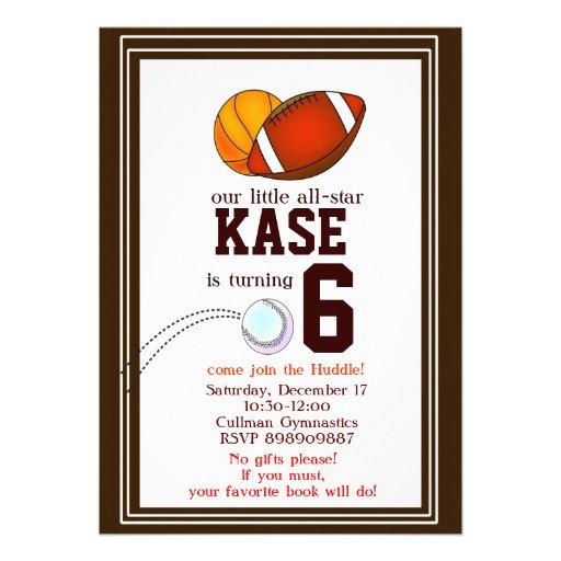 Footbal birthday party invitation