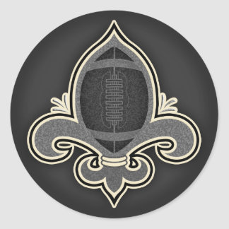 Footbal de Lis -bw Classic Round Sticker