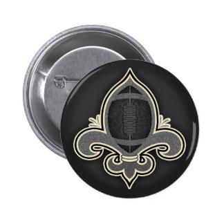 Footbal de Lis -bw Pinback Button