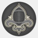 Footbal de Lis -bw Sticker