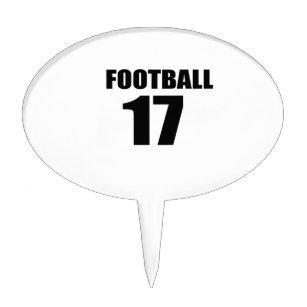 Football 17 Birthday Designs Cake Topper