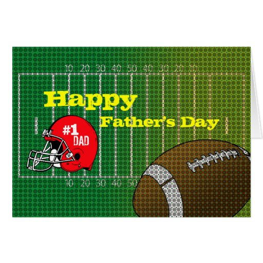 Football #1 Dad Happy Father's Day Card