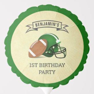Football 1st Birthday Party Balloon