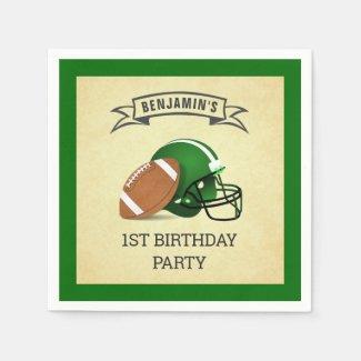 Football 1st Birthday Party Napkins