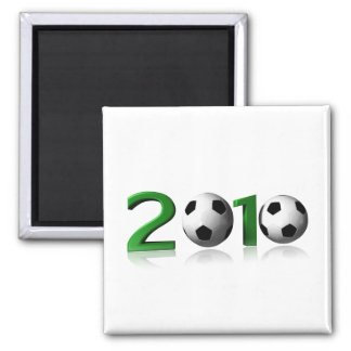 Football 2010 2 inch square magnet