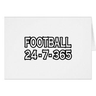 Football 24-7-365 greeting card