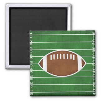 Football 2 Inch Square Magnet