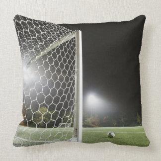 Football 3 throw pillow