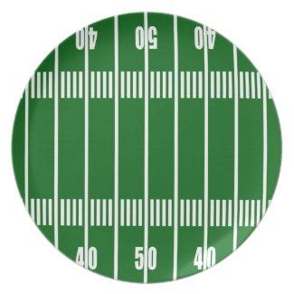 Football 50 Yard Line Plate plate