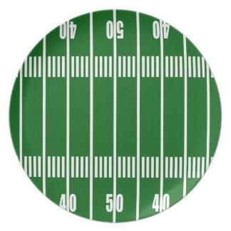 Football 50 Yard Line Plate
