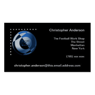 Football A Game of 2 Halves Blue Business Card Template