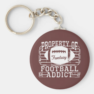 Football Addict by Mudge Studios Key Chains