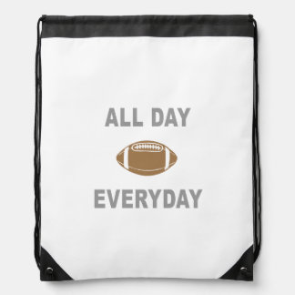 Football All Day Everyday Drawstring Backpack