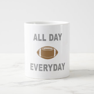 Football All Day Everyday Large Coffee Mug
