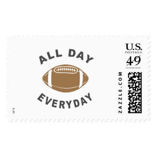 Football All Day Everyday R Postage Stamp