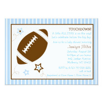 Football All Star Baby Shower Invitations