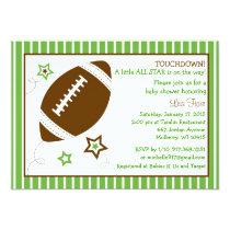 Football All Star Baby Shower Invitations