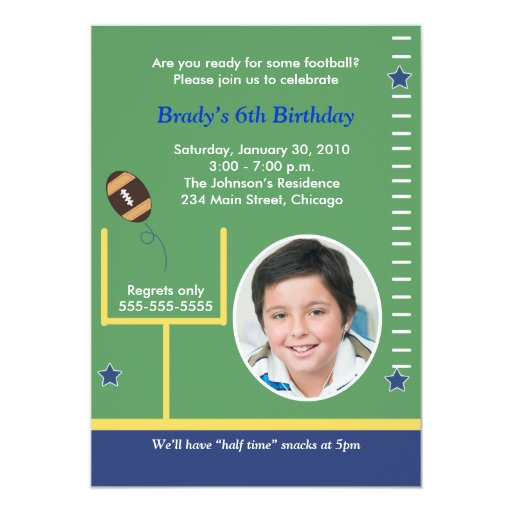 FOOTBALL All Stars Boys Sports PHOTO Birthday Card