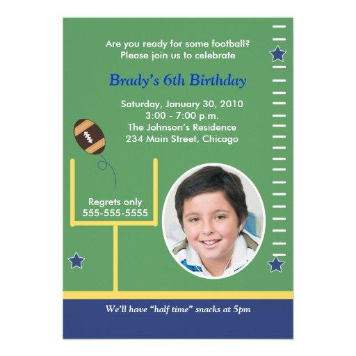 FOOTBALL All Stars Boys Sports PHOTO Birthday Custom Invite