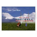 Football – America's Game Design Greeting Card