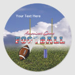 Football – America's Game Design Round Stickers