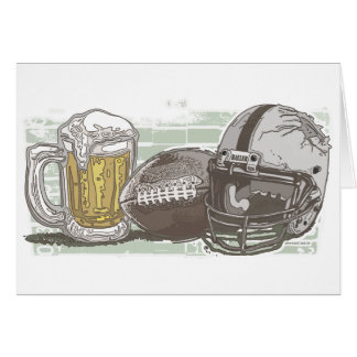 Football and Beer by Mudge Studios Card