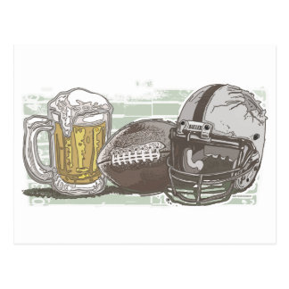 Football and Beer by Mudge Studios Postcard