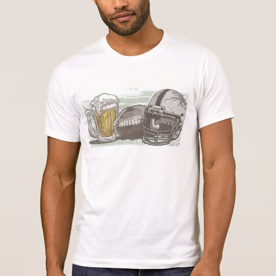 Football and Beer by Mudge Studios T-Shirt