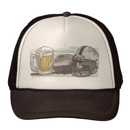 Football and Beer by Mudge Studios Trucker Hat