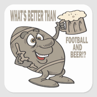Football And Beer Square Sticker