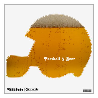 Football and Beer Wall Decal