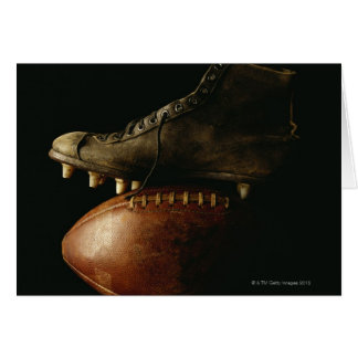Football and Cleat Greeting Card