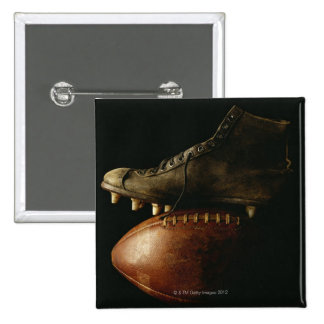 Football and Cleat Pinback Button