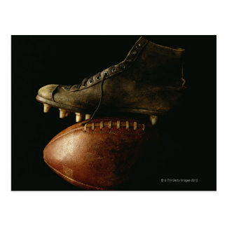 Football and Cleat Postcard