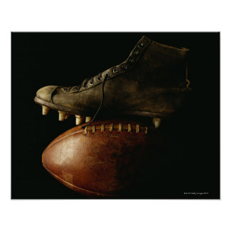 Football and Cleat Poster