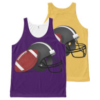 Football And Helmet All-Over Print Tank Top