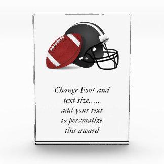 Football And Helmet Award