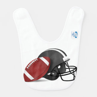 Football And Helmet Baby Bib