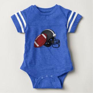 Football And Helmet Baby Bodysuit
