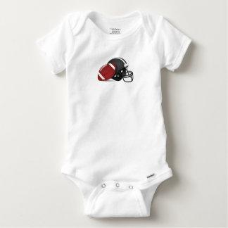 Football And Helmet Baby Onesie