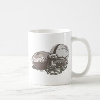 Football and Helmet by Mudge Studios Coffee Mug