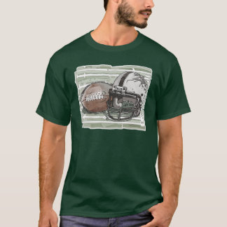 Football and Helmet by Mudge Studios T-Shirt